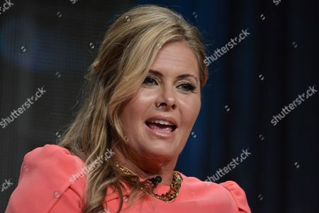 """Stock Photo of Nicole Eggert speaks onstage at the """"Heartbreakers"""" portion of the Discovery 2014 Summer TCA, in Beverly Hills, Calif"""