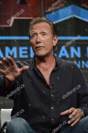 """Stock Picture of Walt Willey speaks onstage during the """"Gunsligners"""" Portion of the Discovery 2014 Summer TCA, in Beverly Hills, Calif"""