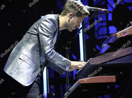 Todd Gummerman with Mutemath performs as the opener for Twenty One Pilots during the Emotional Roadshow World Tour at the Infinite Energy Center, in Atlanta