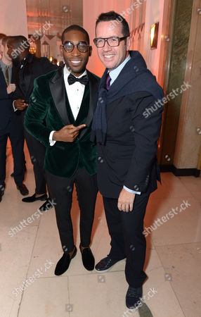 Tinie Tempah and Audemars Piguet CEO Francois-Henry Bennahmias attend Harper's Bazaar Women of the Year Awards 2013 at Claridge's Hotel, in London