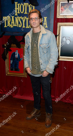 Ollie Proudlock is seen ahead of the gala screening of upcoming cinema release Hotel Transylvania at the Soho Hotel on in London, UK
