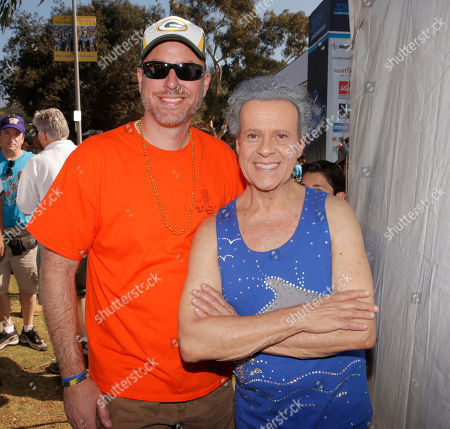 Kevin Wehrenberg and Richard Simmons attend JDRF's Los Angeles Walk to Cure Diabetes at the Rose Bowl on in Pasadena, California