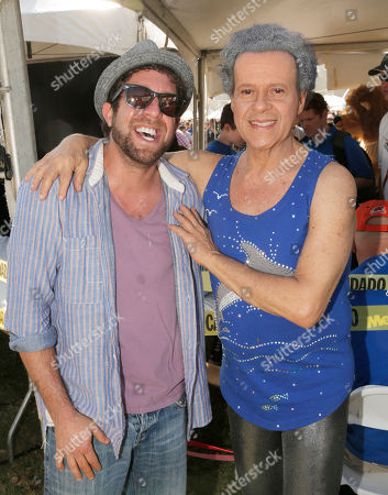Elliott Yamin and Richard Simmons attend JDRF's Los Angeles Walk to Cure Diabetes at the Rose Bowl on in Pasadena, California
