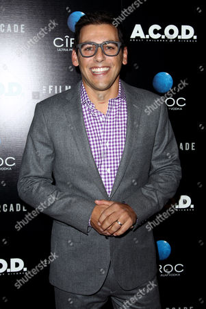 "Director and co-writer Stu Zicherman arrives at the premiere of ""A.C.O.D."" at the Landmark Theatre on in Los Angeles"