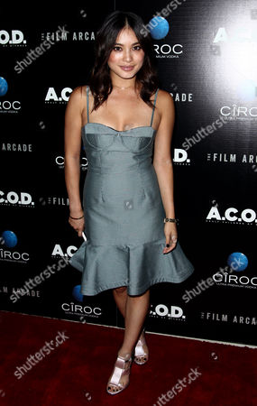 """Samantha Duenas arrives at the premiere of """"A.C.O.D."""" at the Landmark Theatre on in Los Angeles"""
