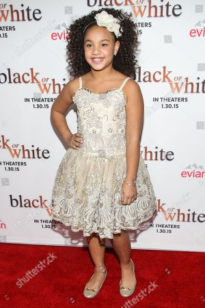 "Jillian Estell attends the Los Angeles Premiere of ""Black or White"" held at Regal Cinemas, in Los Angeles"