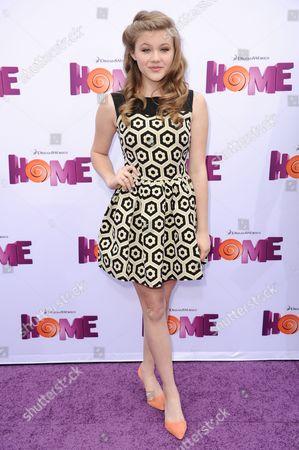 """Kerri Medders arrives at the LA Premiere Of """"Home"""" held at the Regency Village Theatre, in Los Angeles"""
