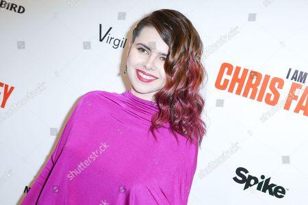 "Kristina Coolish arrives at the LA Premiere of ""I Am Chris Farley"" at the Linwood Dunn Theater, in Los Angeles"