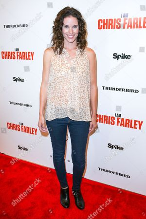 "Chantal Cousineau arrives at the LA Premiere of ""I Am Chris Farley"" at the Linwood Dunn Theater, in Los Angeles"