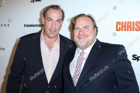 "Stock Picture of John Farley, left, and Kevin Farley arrive at the LA Premiere of ""I Am Chris Farley"" at the Linwood Dunn Theater, in Los Angeles"