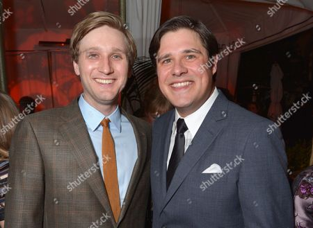 "Aaron Staton, left, and Rich Sommer attend the LA premiere of ""Mad Men"" season 7 after party, in Los Angeles"