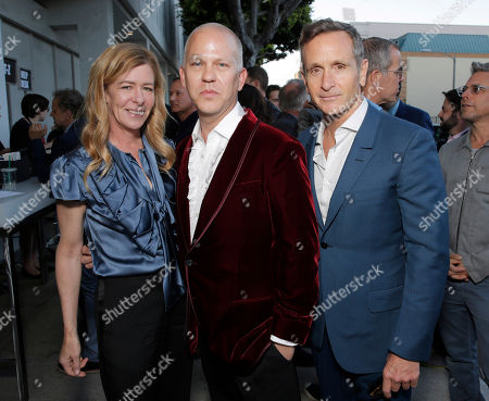 Executive Producers Dede Gardner, Ryan Murphy and Dante Di Loreto attend the Los Angeles premiere of HBO's 'The Normal Heart' at The Writers Guild Theatre on in Beverly Hills, California