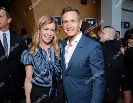 Executive Producer Dede Gardner and Executive Producer Dante Di Loreto attend the Los Angeles premiere of HBO's 'The Normal Heart' at The Writers Guild Theatre on in Beverly Hills, California