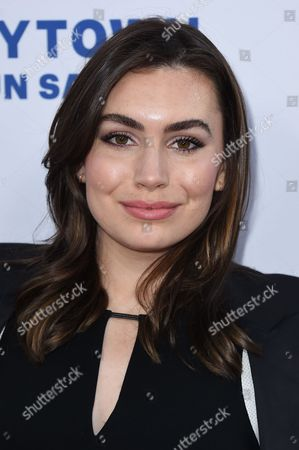 "Sophie Tweed Simmons attends the LA premiere of ""Under The Gun"" at Samuel Goldwyn Theater on in Beverly Hills"