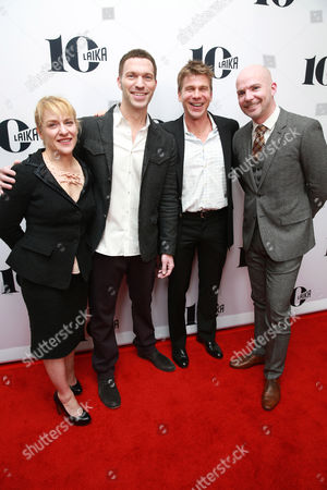 Arianne Sutner, Travis Knight, Marc Haimes and Chris Butler seen at the LAIKA 10th Anniversary Party at The London Hotel, in West Hollywood, Calif