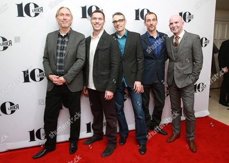 Stock Image of Henry Selick, Travis Knight, Graham Annable, Anthony Stacchi and Chris Butler seen at the LAIKA 10th Anniversary Party at The London Hotel, in West Hollywood, Calif