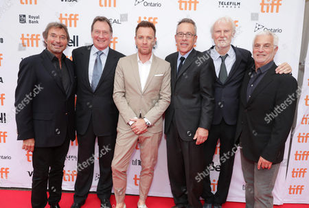 "Rob Friedman, Co-Chairman of Lionsgate Motion Picture Group, Producer Gary Lucchesi, Director Ewan McGregor, Producer Tom Rosenberg and Executive Producer Andre Lamal and Patrick Wachsberger, Co-Chairman of Lionsgate Motion Picture Group, seen at Lionsgate's ""American Pastoral"" Premiere at the 2016 International Film Festival, in Toronto"