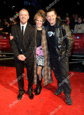 Paul Andrew Williams, Lorraine Ashbourne, Andy Serkis poses at London Film Festival The Mayfair Hotel Gala - Song for Marion at Odeon West End on in London
