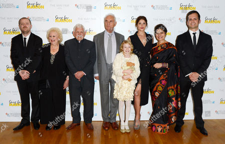 Paul Andrew Williams, Arthur Nightingale, Terence Stamp, Orla Hill, Gemma Arterton and guests poses at London Film Festival The Mayfair Hotel Gala - Song for Marion at Odeon West End on in London