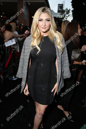 """Taylor-Ann Hasselhoff seen at the Los Angeles Premiere of New Line Cinema """"The Gallows"""" held at Hollywood High School on"""