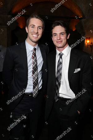 "Ryan Shoos and Reese Mishler seen at the Los Angeles Premiere of New Line Cinema ""The Gallows"" held at Hollywood High School on"