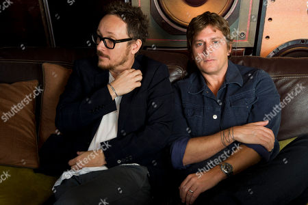 Paul Doucette, left, and Rob Thomas of Matchbox Twenty pose for a portrait on in New York