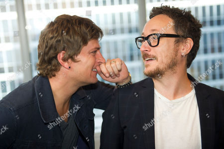 Rob Thomas, left, and Paul Doucette of Matchbox Twenty pose for a portrait on in New York