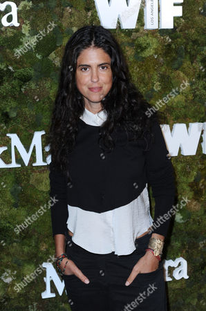 Francesca Gregorini arrives at a cocktail reception honoring the 2015 Women in Film Max Mara Face of the Future recipient Kate Mara at Chateau Marmont, in West Hollywood, Calif