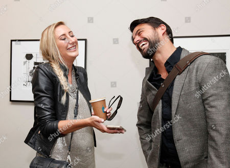 Carly Cristman and Ben Flajnik seen at Mode Media Digital Newfronts 2015 at Milk Studios on in New York