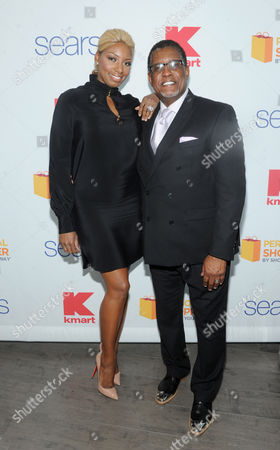 Reality TV star couple NeNe and Gregg Leakes celebrate Valentine's Day at the Shop Your Way Personal Shopper launch in New York