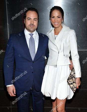 Model Veronica Webb, right, and fiance Chris Del Gatto attend the New Yorkers For Children annual Spring benefit at the Mandarin Oriental, in New York