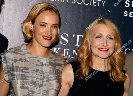 """Actresses Alexia Rasmussen, left, and Patricia Clarkson, right, attend a screening of """"Last Weekend"""" on in New York"""