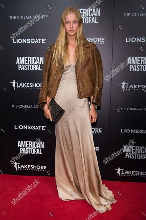 """Natalie Ludwig attends a special screening of """"American Pastoral"""" at the Museum of Modern Art, in New York"""