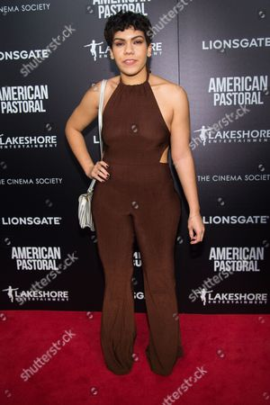 """Daniella De Jesus attends a special screening of """"American Pastoral"""" at the Museum of Modern Art, in New York"""