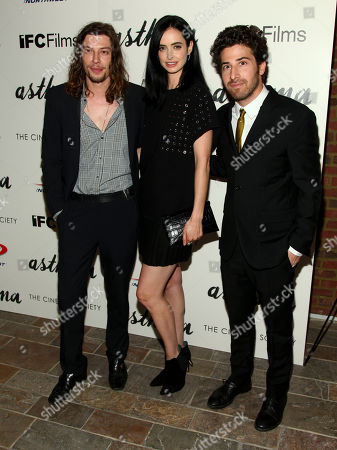 "Benedict Samuel, from left, Krysten Ritter and Jake Hoffman attend a special screening of ""Asthma"", hosted by IFC Films with The Cinema Society, at The Roxy Hotel, in New York"