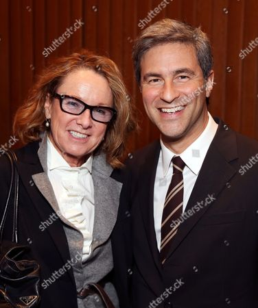 From left, Ann Philbin, Director, Hammer Museum and Michael Govan, CEO Los Angeles County Museum of Art and Wallis Annenberg Director pose during the Pacific Standard Time Presents: Modern Architecture in L.A. Press Preview held at Capitol Records Studios, in Los Angeles, Calif