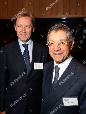 From left, Timothy Potts, Director, J. Paul Getty Museum and Jeffrey Deitch, Director, MOCA pose during the Pacific Standard Time Presents: Modern Architecture in L.A. Press Preview held at Capitol Records Studios, in Los Angeles, Calif