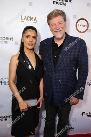 """Producer Salma Hayek and Director/Writer Roger Allers seen at Participant Media Special Los Angeles Screening of """"Kahlil Gibran's The Prophet"""" held at LACMA's Bing Theater, in Los Angeles"""