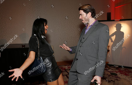 Fefe Dobson and Drew Scott attend the Producers Ball 2012 at the Shangri-La Toronto, in Toronto, Canada