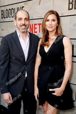Creator/Writer/Executive Producer Glenn Kessler and Julie Claire attend the Season 2 Premiere of the Netflix Original Series, BLOODLINE at Landmark Regent Theatre, in Los Angeles