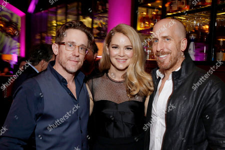 Jacinda Barrett and Creator/Writer/Executive Producer Todd A. Kessler attend the Season 2 Premiere of the Netflix Original Series, BLOODLINE at Landmark Regent Theatre, in Los Angeles