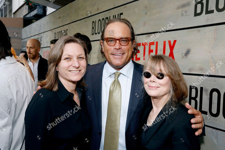 Stock Photo of Cindy Holland, Netflix VP of Original Series, Steve Mosko, Chairman of Sony Pictures Television, and Sissy Spacek attend the Season 2 Premiere of the Netflix Original Series, BLOODLINE at Landmark Regent Theatre, in Los Angeles