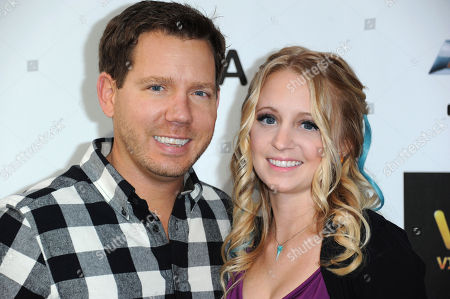 Stock Picture of Cliff Bleszinski, left, and Lauren Berggren arrive at Spike's 10th Annual Video Game Awards at Sony Studios, in Culver City, Calif