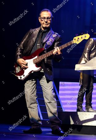 Chuck Panozzo of the band Styx performs in concert at the American Music Theater, in Lancaster, Pa