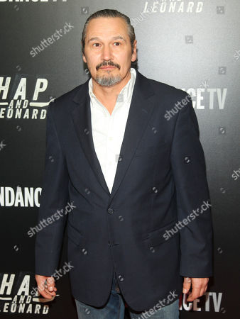 """Nick Damici attends the premiere party for Sundance TV's originally scripted series, """"Hap and Leonard"""", at Hill Country, in New York"""