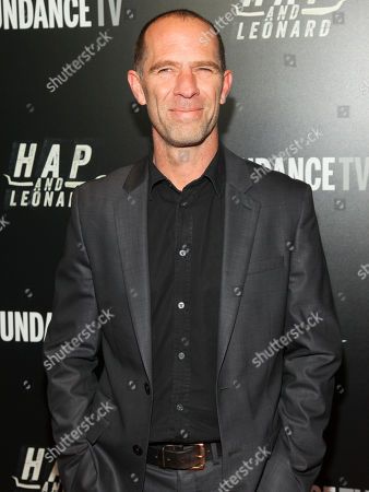 """Stock Photo of Neil Sandilands attends the premiere party for Sundance TV's originally scripted series, """"Hap and Leonard"""", at Hill Country, in New York"""