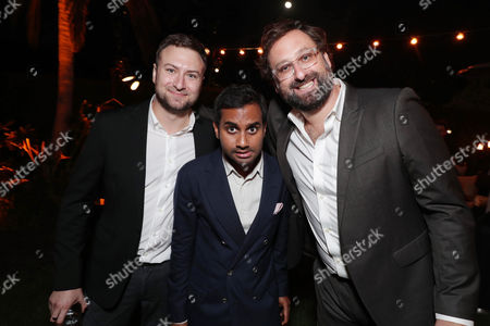 David Gelb, Aziz Ansari and Eric Wareheim seen at Ted Sarandos' Annual Netflix Emmy Nominee Toast, in Los Angeles, CA
