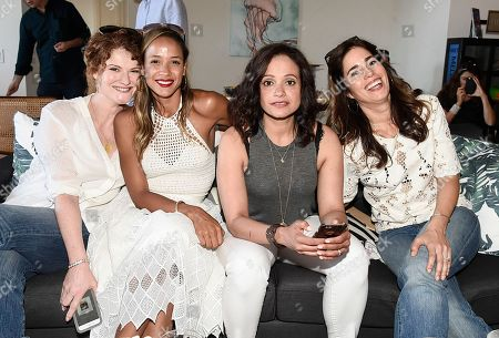 From left to right, Rebecca Wisocky, actress Dania Ramirez, actress Judy Reyes, and actress Ana Ortiz at the Kia Malibu Beach House Presented by Teva on in Malibu, Calif. Ramirez, Martinez, Wisocky and Reyes later live tweeted an episode of their television show Devious Maids