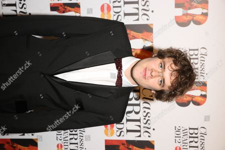 Stock Photo of Benjamin Grosvenor arrives at the Royal Albert Hall for the Classical BRIT Awards on in London, UK