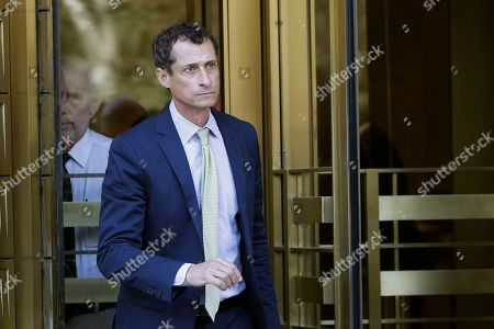 Former Congressman Anthony Weiner (D-N.Y.) leaves federal court following his sentencing, in New York. Weiner was sentenced to 21 months in a sexting case that rocked the presidential race